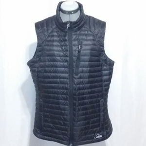 L.L. Bean Black Down Feather Puffy Vest XL Reg